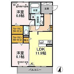 Resente和田町B[2階]の間取り