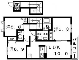 ShaMaison Via sole(シャーメゾンヴィアソーレ)[203号室号室]の間取り