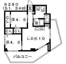 Domani(ドマーニ)[501号室号室]の間取り