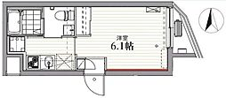 JR京浜東北・根岸線 蒲田駅 徒歩5分の賃貸マンション 3階1Kの間取り