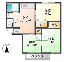 セジュールSEIBU 北棟[2階]の間取り