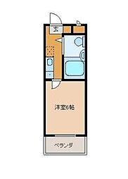 埼玉県深谷市上野台の賃貸アパートの間取り