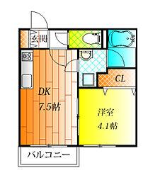 近鉄南大阪線 藤井寺駅 徒歩3分の賃貸アパート 3階1DKの間取り