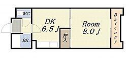 富士プラザ2中央[6階]の間取り