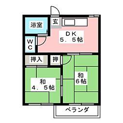 ドムス金岡[2階]の間取り