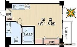 山口第2ビル[402号室]の間取り