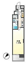 CASA+α名駅南[6階]の間取り