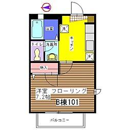 しぇ じゅじゅ[B-101号室]の間取り