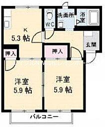 フレグランスA・S C棟[1階]の間取り