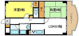 サンビレッジ2[2階]の間取り