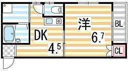 木村マンション[203号室]の間取り