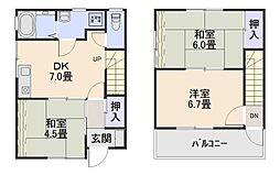 [テラスハウス] 京都府木津川市相楽大徳 の賃貸【/】の間取り