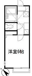 神奈川県相模原市南区大野台7丁目の賃貸アパートの間取り