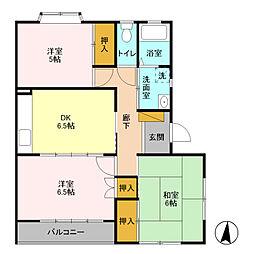 メゾンドロージェ II[2階]の間取り