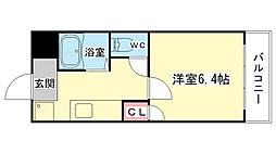 大阪府大阪市西区新町2丁目の賃貸マンションの間取り