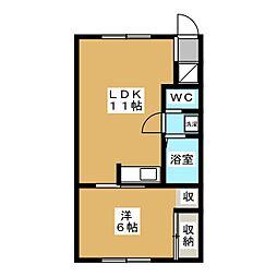 ドリームスカムトゥルー[2階]の間取り