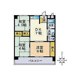第3堺ビル[404号室]の間取り
