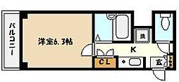 兵庫県芦屋市打出小槌町の賃貸マンションの間取り
