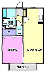 ルミエールKII[2階]の間取り