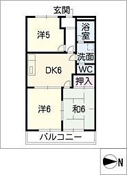 アムールタウン[1階]の間取り