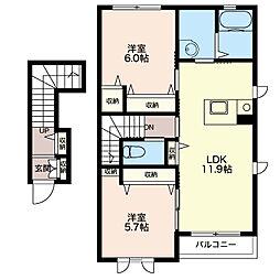 桜 II[2階]の間取り
