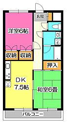 パークマンションIII[1階]の間取り