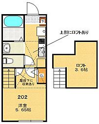 ラクセル三ツ沢[2階]の間取り