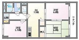 東野マンション[2階]の間取り