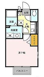 エステート A棟[1階]の間取り