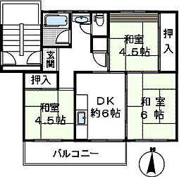 金剛第三住宅223棟[501号室]の間取り