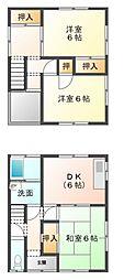 [一戸建] 愛媛県宇和島市長堀3丁目 の賃貸【/】の間取り