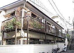 東京都新宿区荒木町の賃貸アパートの外観