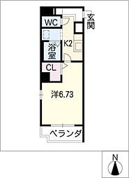 エコ・ファイブ守山[6階]の間取り