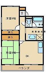 愛知県尾張旭市吉岡町1丁目の賃貸アパートの間取り