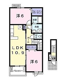 ラフレシールII[2階]の間取り
