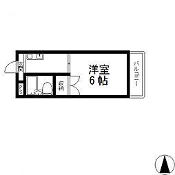 プレアール小阪II[105号室号室]の間取り
