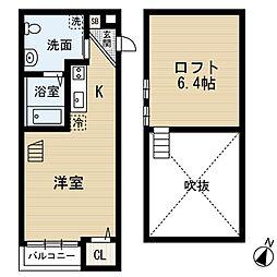 MYUV (エムワイユーファイブ)[2階]の間取り