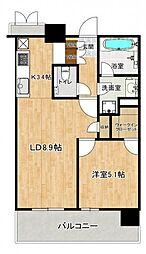 パークシティ武蔵小山 ザ タワー 4階1LDKの間取り