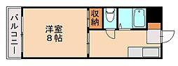 Tクレール片江[1階]の間取り