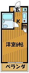 東京都小平市上水本町1丁目の賃貸マンションの間取り