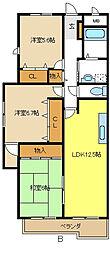 愛知県名古屋市千種区上野3丁目の賃貸マンションの間取り