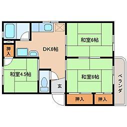 静岡県静岡市清水区草薙1丁目の賃貸マンションの間取り