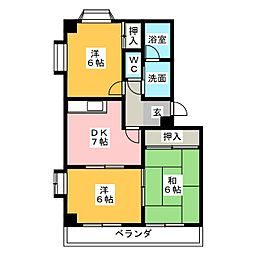 アネックス富洲原[2階]の間取り
