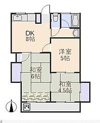花小金井南マンション[5階]の間取り
