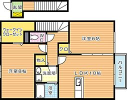 アンバーアーク太田[2階]の間取り