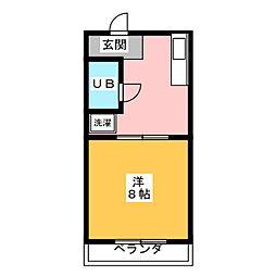 メルカードあさひII[1階]の間取り