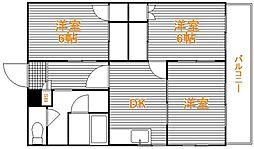 東京都葛飾区堀切7丁目の賃貸マンションの間取り