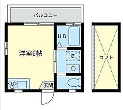神奈川県横浜市旭区二俣川1丁目の賃貸アパートの間取り