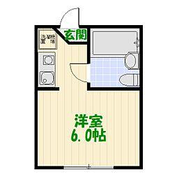 東京都葛飾区堀切7丁目の賃貸アパートの間取り