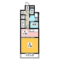ヒルズK2[5階]の間取り